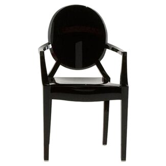Kartell Louis Ghost Chair - Finish: Opaque Glossy Black