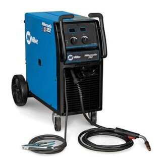 "Miller Electric Mfg Co 252 MIG Welder 230/460/575 Volt, 1 Phase, 60 Hz With 250 Amp .030"" - .035"" M-25 MIG Gun"