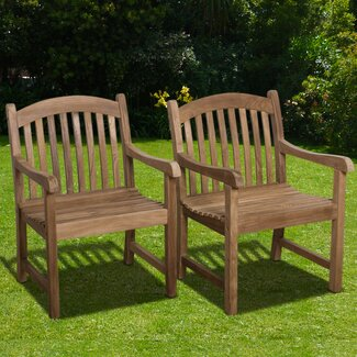 International Home Miami Darwin Stacking Dining Arm Chairs (Set of 2)