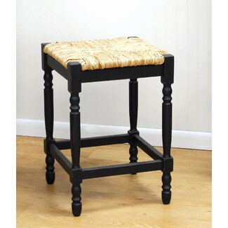 "Carolina Cottage Hawthorne 24"" Antique Black Counter Stool"