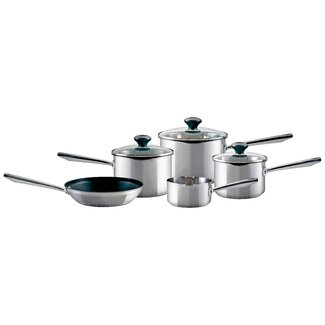 Prestige 5 Piece Non-Stick Stainless Steel Cookware Set