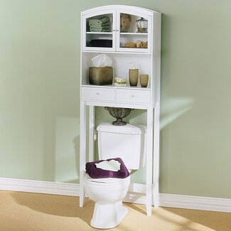 Wildon Home ® Woodrow Arch Top Bathroom Space Saver in White