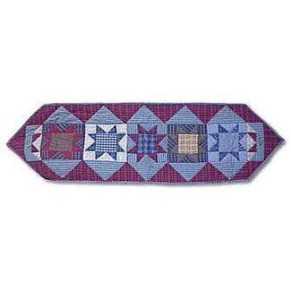 Patch Magic Denim Burst Table Runner