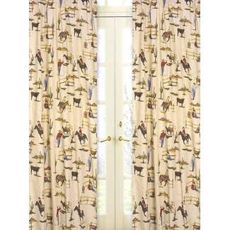 Wild West Cowboy and Horses Print Curtains from Wayfair!