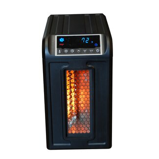 1500 Watt 110 Volt 15 Amp Compact Infrared Electric Heater with Remote