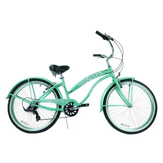 "Greenline Bicycles Ladies 26"" 7-Speed Shimano Premium Extended Deluxe Beach Cruiser"