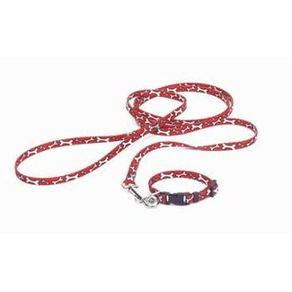Coastal Pet Products Nylon Lil Pals Puppy Collar in Red and White Bones
