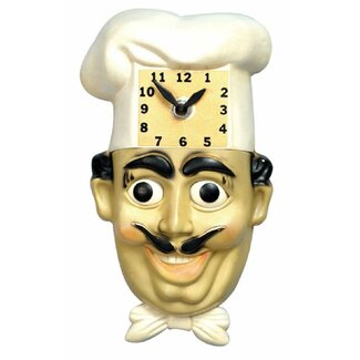 Animated Clocks Chef Luigi Wall Clock