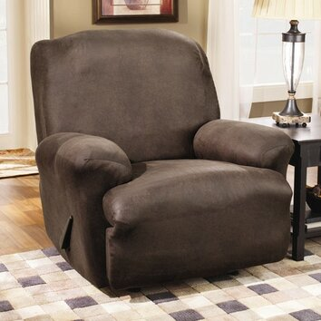 Sure Fit Stretch Leather Recliner Slipcover Amp Reviews