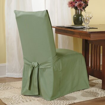 fit cotton duck dining chair slipcover reviews wayfair