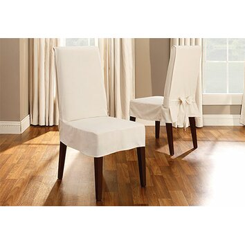 Sure Fit Cotton Duck Shorty Dining Chair Slipcover Reviews Wayfair