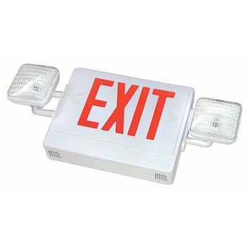 commercial exit emergency lights wayfair. Black Bedroom Furniture Sets. Home Design Ideas