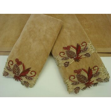 Sherry Kline Belvedere 3 Piece Decorative Towel Set Bed