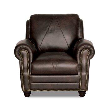 Solomon Italian Leather Chair And Ottoman Wayfair