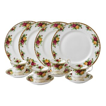 Royal Albert Old Country Roses 12 Piece Dinnerware Set