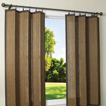Versailles Home Fashions Indoor Outdoor Bamboo Ring Top Single Curtain Panel Reviews Wayfair