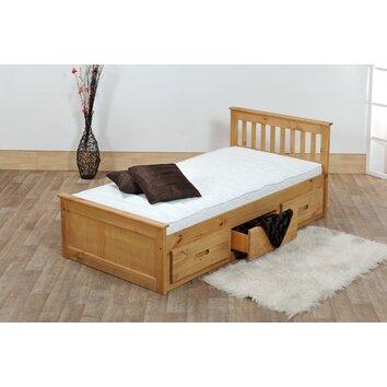 Homestead Living Pine Mission Single Storage Bed Frame