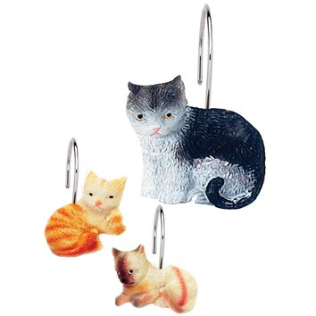 Carnation Home Fashions Shower Curtain Hooks Carnation Home Fashions Kitty