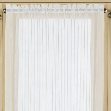 United Curtain Co Batiste Half Rod Pocket Door Curtain