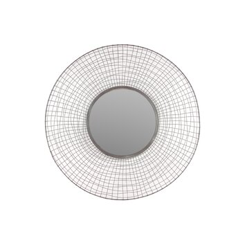 Urban Trends Metal Circular Mirror With Concave Mesh