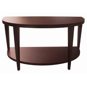 Allan copley designs marla half moon console table allmodern for Half moon console table