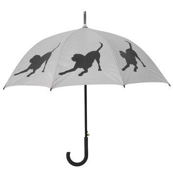The San Francisco Umbrella Company Dog Park Labrador Retriever Walking Silhouette Stick Umbrella