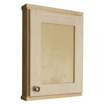 wg wood products shaker series 15 x 19 5 surface mount medicine cabinet reviews wayfair. Black Bedroom Furniture Sets. Home Design Ideas