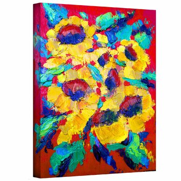 Sunflower On Shingel Roof By Susi Franco Painting Print