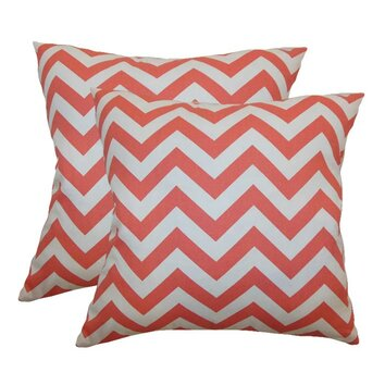 Reviews The Pillow Collection Xayabury Zigzag Cotton Pillow Homeacces032107
