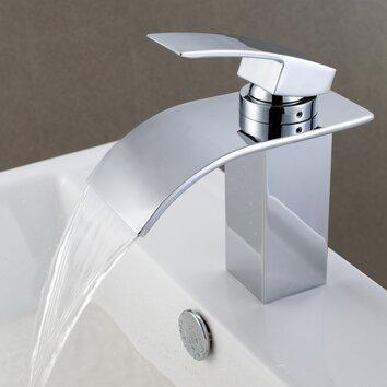 Bathroom Sink Hose : ... Mount Waterfall Bathroom Sink Faucet with Hoses & Reviews Wayfair