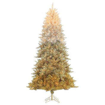 7 5 Vintage Gold Ombre Spruce Christmas Tree With 600 Ul