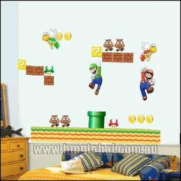Super Mario Bros Removable Wall Sticker Wayfair Australia