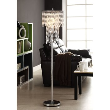 kingstown home cortona 3 light crystal floor lamp With cortona 3 light crystal floor lamp