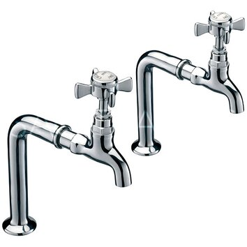 Churchman Bib Tap And Stands In Chrome Plated Wayfair UK