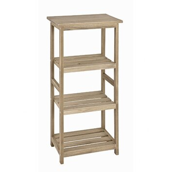 House additions 4 shelf accent shelf reviews wayfair uk - Etagere cube bois brut ...