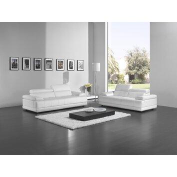 Brooklyn Leather Sofa Set Wayfair UK