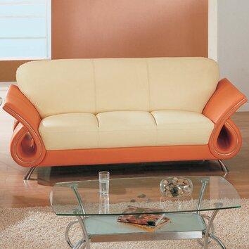Clark Leather Sofa Wayfair