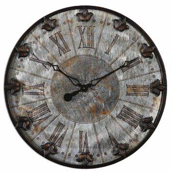 Uttermost artemis oversized 24 wall clock reviews wayfair for Artemis decoration