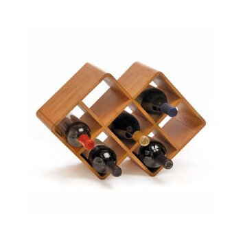 Oenophilia greenophile 8 bottle tabletop wine rack reviews wayfair - Wine rack small space collection ...