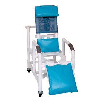 MJM International Pediatric Reclining Shower Chair with Leg Extension and Optional Accessories