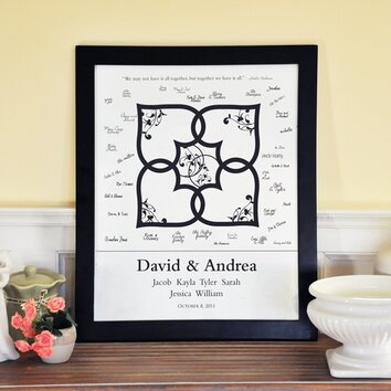 Blended Family Canvas Signature Guest Book Wayfair