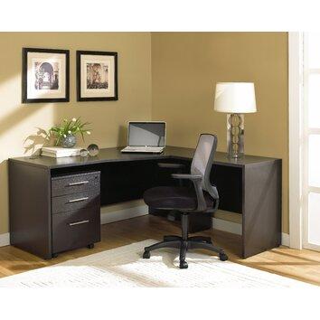 Jesper office 100 2 piece l shape home desk office suite for Bedroom l shaped desks