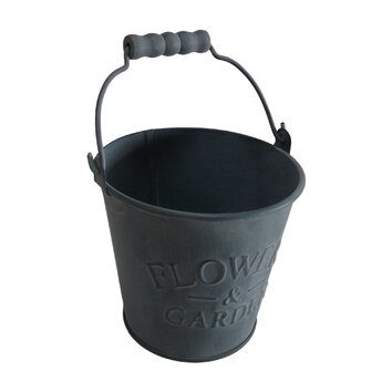 Cheungs metal bucket planter reviews wayfair for Metal bucket planter
