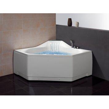 Ariel Bath 59 X Corner Whirlpool Tub With Waterfall