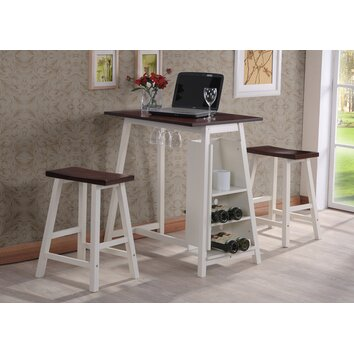 Inroom designs california 3 piece mini pub table set In room designs