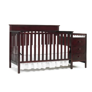 in  crib with changing table