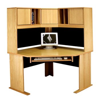 rush furniture office modulars corner desk office suite with keyboard