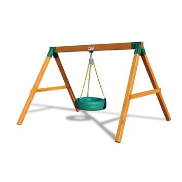 free standing tire swing set wayfair