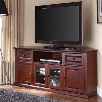 hokku designs 60 corner tv stand reviews wayfair. Black Bedroom Furniture Sets. Home Design Ideas