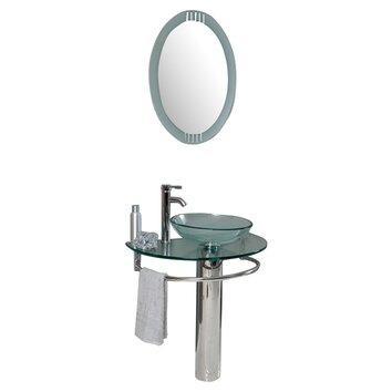 Fresca Vetro 30 Single Attrazione Modern Bathroom Vanity Set With Mirror Allmodern
